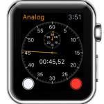 apple watch analog 1-dail stopwatch