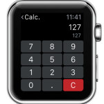 apple watch calculator input