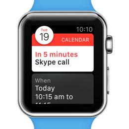 apple watch calendar app event alert