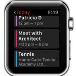 apple watch calendar app home screen