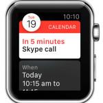 apple watch calendar event alert