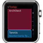 apple watch calendar today list view