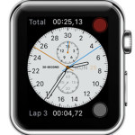 apple watch chronograph face stopwatch