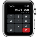apple watch converting USD to EUR