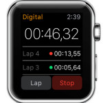 apple watch digital stopwatch