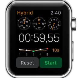 apple watch hybrid stopwatch display