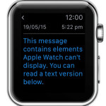 apple watch informing about mail content