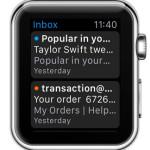 apple watch mail app home screen