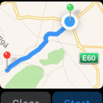apple watch maps route display