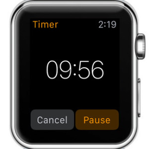 apple watch ongoing timer