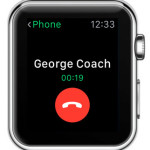 apple watch phone app ongoing call info