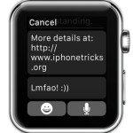 apple watch predefined text replies
