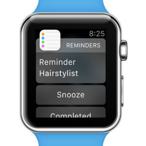 apple watch reminder notification