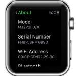 apple watch serial number in settings menu