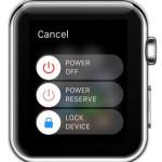apple watch shutdown sliders