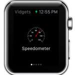 apple watch speedometer widget