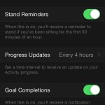 apple watch stand reminders setting