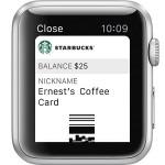 apple watch starbucks pass