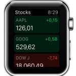 apple watch stocks app