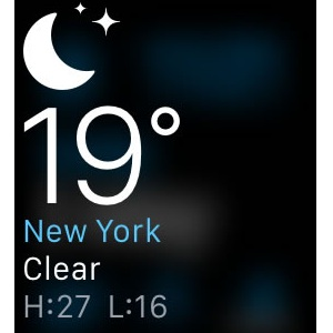 apple watch weather glance