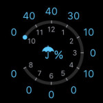 apple watch weather rain percentage display