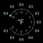 apple watch weather temperature display