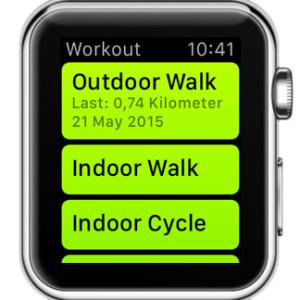 apple watch workout app home screen