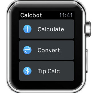 calcbot apple watch home screen
