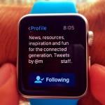 closing twitter app on apple watch