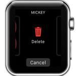 delete apple watch face