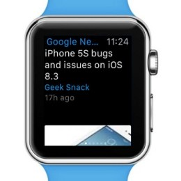 google news app on apple watch