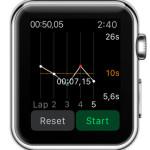 graph apple watch stopwatch view