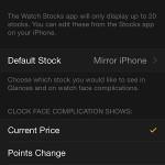iphone apple watch app stocks settings