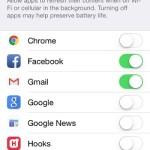 iphone background app refresh settings
