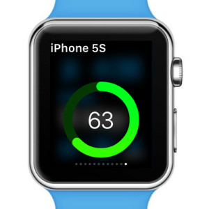 iphone remaining battery percentage displayed on apple watch