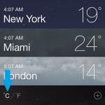 iphone weather temperature celsius
