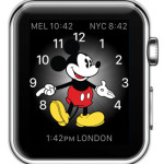 mickey mouse with world clock modules