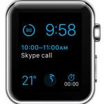 modular watch face with upcoming calendar event complication