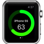 remaining iphone battery percentage on apple watch
