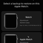 restoring apple watch from backup