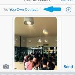 sending photo via iMessage to yourself