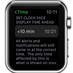 set clock face display time ahead feature