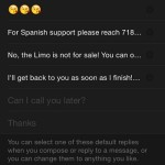tweaking default apple watch message replies