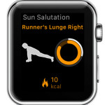 yoga 8 ongoing workout apple watch display