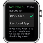 activate on wrist raise resume to options