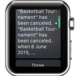 apple watch calendar event notification