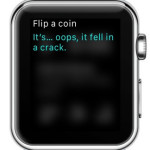 apple watch flip a coin result