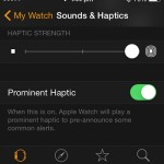 apple watch haptic settings on iphone