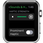 apple watch haptic strength setting