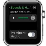 apple watch haptic strength setting